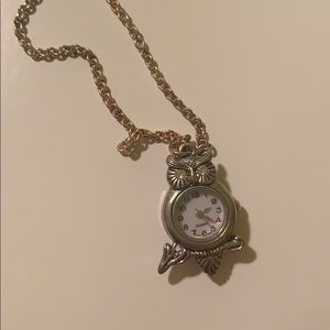 Jewelry - long owl clock necklace